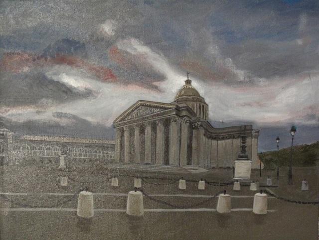 18/09/2014 : Le Panthéon - Huile sur toile