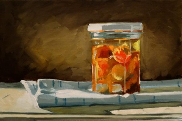 24/09/2014 : Le Pot de Tomates Cerises - Huile sur toile 30 x 20 cm