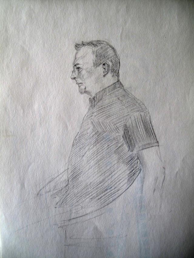 30/09/2014 : Portrait de Philippe - Dessin au crayon HB