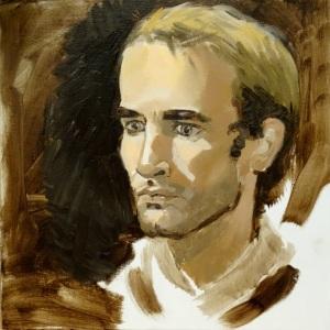 20/10/2014 : Portrait de Geoffroy - Huile sur toile 30 x 30 cm