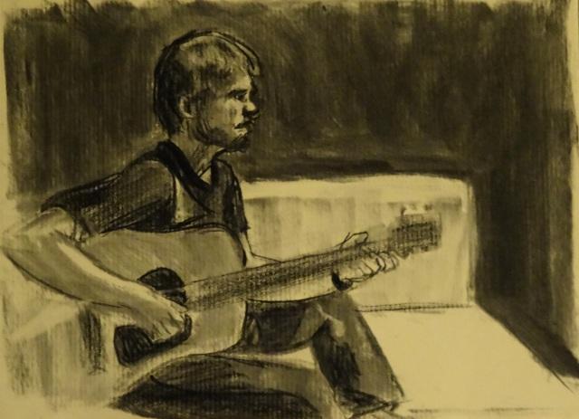 02/11/2014 : Portrait de Johan - Fusain 21 x 29,7