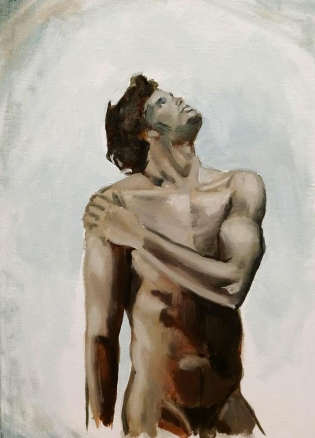 18/11/2014 : Homme inspiré - Huile sur toile 24 x 32 cm