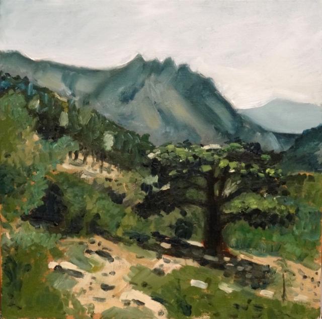 26/01/2014 : Paysage Corse - Huile sur toile 30 x 30 cm