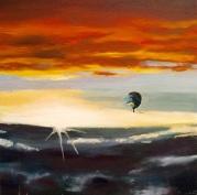 23/09/2015 : Le coucher de soleil - 30 x 30 cm huile sur toile