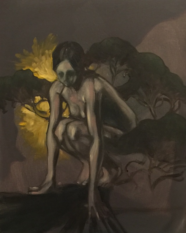 16/10/2015 : Créature - huile sur toile 50 x 40 cm