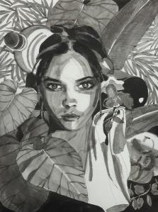 7/01/2016 : Schizophrénie, encre de chine et stylo bille - 21 x 29,7